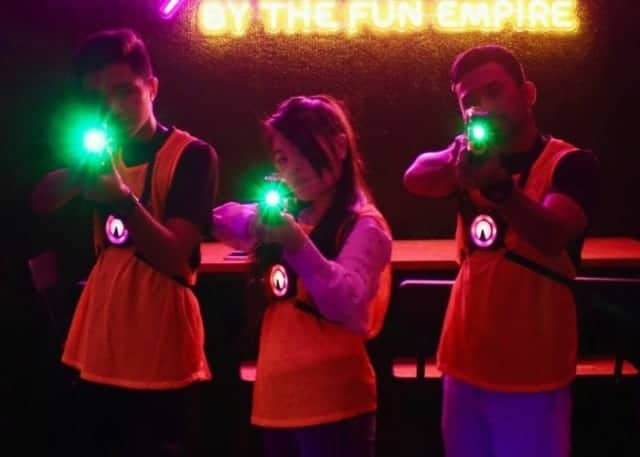 laser tag techniques - shoot around corners