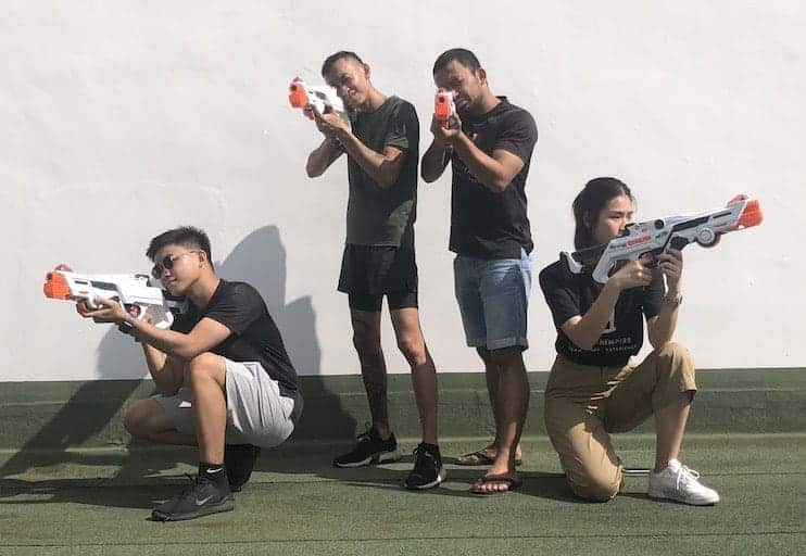 laser tag techniques - power-ups